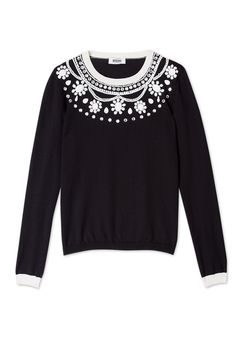 Embellished Monochrome Jumper by Moschino Cheap & Chic