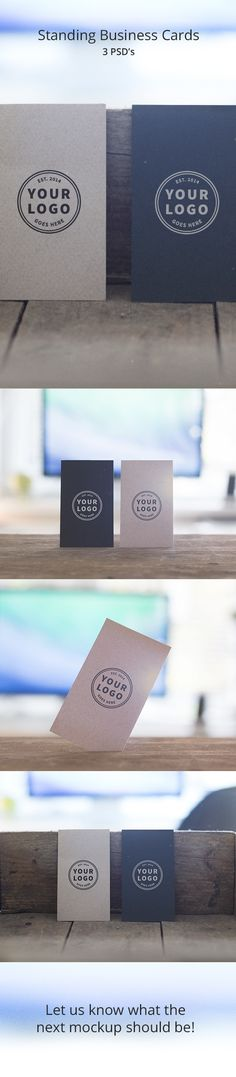 Free Standing Business Cards Mockups. 3 PSD's on Behance