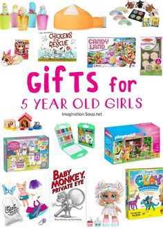 The Best Gifts for 5 Year Old Girls - Popular gifts for 5 year old girls - Gifts For Boys, Girl Gifts, Gifts For Her, Boy Birthday, Birthday Gifts, Golden Birthday, Birthday Ideas, 5 Year Old Toys, Holiday Gifts