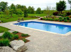 Great  Bilder von Pool im Garten roman pool design stamped beton renaissance landschaft