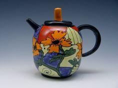 tea pot  by JeanEltonPottery on Etsy