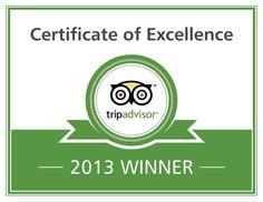 Bush2Beach Safaris, winner of Tripadvisor certificate of Excellence 2013!