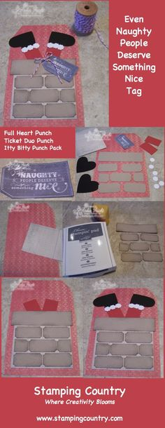 Naughty & Nice Punch Art Tags, Stampin' Up!, My Digital Studio More creative crafts & Cards www.stampingcountry.com