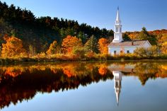 Reflection of Faith - A bright fall morning in Cuyahoga Valley National Park.