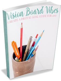 Create your own vision board for the new year with this free Vision Board Vibes ebook and digital templates to create your own! Add your own photos and flair using free digital tools and share with Bloggers Get Social!