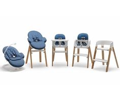 Stokke Steps bouncer + high chair system grows with your child step by step