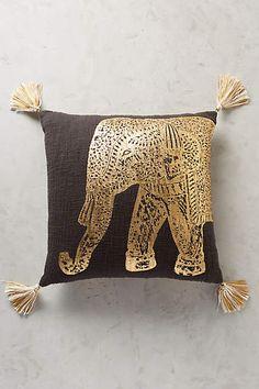 Traveling Elephant Pillow - anthropologie.com