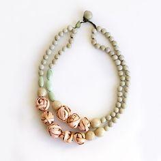 Aros Necklace . Pale Rose & Sand Multi