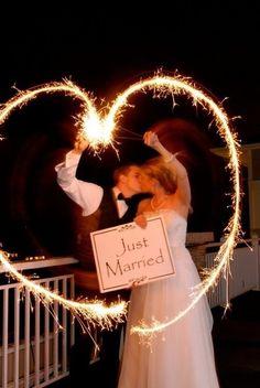 Just married sparkler