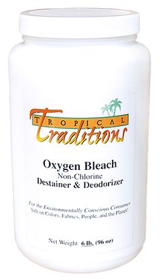 Safe alternative to traditional bleach.  No noxious fumes!  Safe on colors, fabrics, people and the planet =)