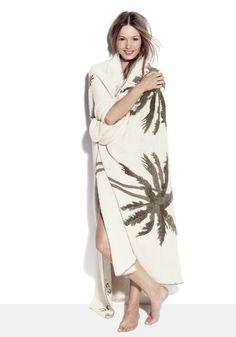 The Elder Statesman for J.Crew cashmere beach blanket
