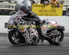 Brandon Tyree on Big Bo's nitrous Pro Street 'Busa at MIR, July 2010  photo by Tim Hailey  http://eatmyink.com/