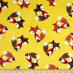Amazon.com: Minky Softie Foxes Yellow Fabric: Arts, Crafts & Sewing
