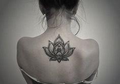 Upper Back Lotus Flower Tattoo for Women Tattoos Pictures
