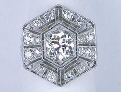 Art Deco diamond ring #artdecojewelry