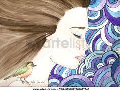 Comprar PÁJARO EN FONDO 60'S - Pintura de Lola Kabuki desde 43 EUR y 50% de descuento (2015/03/10) en Artelista.com, con gastos de envío y devolución gratuitos a todo el mundo