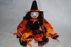 Halloween Witch Potpourri Doll by MTDesignsCrafts on Etsy, $16.00