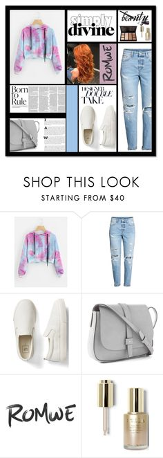 """Flexing With My Romwe Sweatshirt!!!"" by pattimayoisversatile on Polyvore featuring H&M, Gap and Stila"