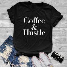 Coffee & Hustle tshirt coffee gifts funny tshirt graphic tees pastel womens teens unisex grunge graphic tumblr instagram blogger pinterest punk hipster swag hype gifts merch girlfriend boyfriend