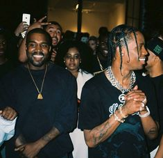 Kanye West x Travis Scott on We Heart It Kanye West Style, Hip Hop Bling, Kylie Jenner, Business Women, Rapper, Celebs, Culture, Wallpapers, Hiphop