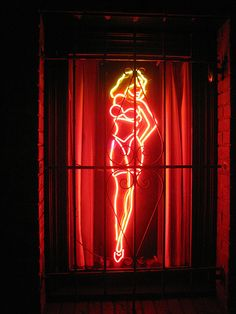 The Red Light District, Amsterdam. We are definitely going Kayla!!