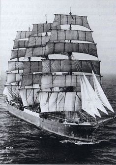 The Le Pamir is a four-masted, steel-hulled bargue - launched in 1905..