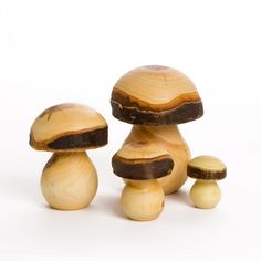 Wooden Mushrooms  www.acorntoyshop.com