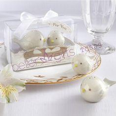 60 pcs = 30 par ( 2 pcs/caixa ) Love Birds salières et poivrières cadeaux de porte TC009 faveurs de #mariage #betergifts