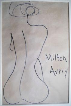 Original signed Milton C Avery Modern US nude woman figurative Manhattan Modern #Modernism