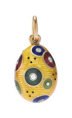 A Fabergé jeweled guilloché enamel pendant Easter egg, Henrik Wigström, St. Petersburg, 1903-1904 | lot | Sotheby's