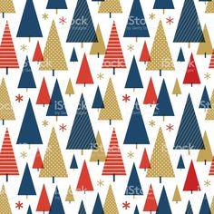 Christmas tree seamless pattern royalty-free stock vector art