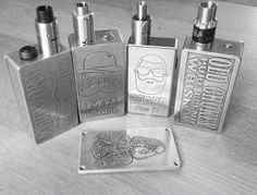 A gathering of mods built and etched by Martin Brown Mbboxmods