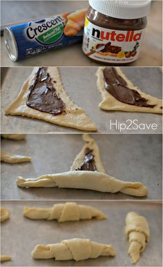 How to make easy Nutella crescents. You will enjoy making this wonderful Nutella recipe with your children. Easy to make, and fun to roll. Try it out this weekend with the kids.