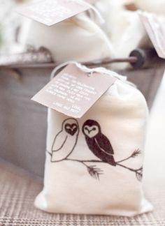 bath salts in screen printed owl bag!