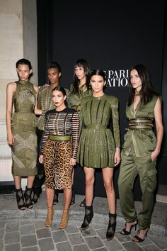 Pin for Later: 25 Sexy Kardashian Looks That Will Convince You to Shop Balmain x H&M  Kim and Kendall proved their place in the Balmain army during Paris Fashion Week in 2014.