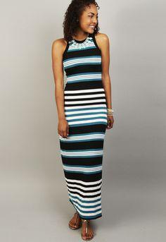 #Malibu Pier Maxi Dress #karenkane# shopmama.com #madeinusa