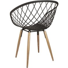 Sidera Chair from Made-in-Italy, sleek molded plastic sculpts a woven crosshatch pattern on tapered solid ash wood legs.