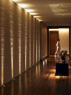 *modern interiors, hallway, lighting design* - Spa at the Gleneagles Hotel in Scotland by designer Amanda Rosa Design Hotel Projects Spa Design, House Design, Design Ideas, Design Art, Dramatic Lighting, Accent Lighting, Spa Lighting, Ceiling Lighting, Club Lighting