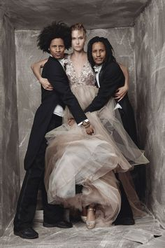 Karlie Kloss and Les Twins - Patrick Demarchelier - December 2015 issue .. I just love this !!