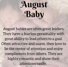 Interesting Facts About People Born In August, Love Life And Personality Traits August Born Quotes, August Birthday Quotes, Baby Born Quotes, Its My Birthday Month, Girl Quotes, Born In August, August Baby, August Month, Baby Month By Month