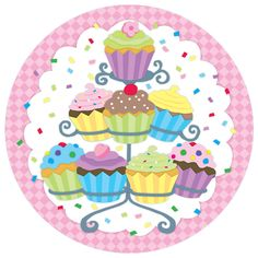 yasminx sewing ideas: decoupage prints for kitchen (mutfak için dekupaj resimleri) Cupcake Pictures, Cupcake Images, Cupcake Kunst, Cupcake Torte, Cupcake Boxes, Cartoon Cupcakes, Cupcake Clipart, Diy And Crafts, Paper Crafts