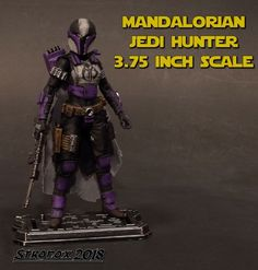Mandalorian Jedi Hunter custom action figure from the Star Wars series using GI Joe as the base, created by Stronox. Star Wars Toys, Custom Action Figures, The 5th Of November, Boba Fett, Mandalorian, Kind Words, Gi Joe, Marvel, Sci Fi