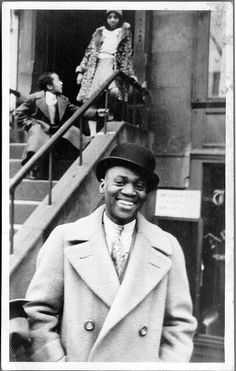 """Bill """"Bojangles"""" Robinson in Harlem . Bill """"Bojangles"""" Robinson (May 1878 – November was an American tap dancer and actor, the best known and most highly paid African American entertainer in the first half of the twentieth century. Photo New York, Afro, By Any Means Necessary, African Diaspora, Ballet, Before Us, African American History, Black History Month, Black Is Beautiful"""