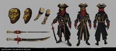 ArtStation - Sea of Thieves - Reaper's Bones, Esther Smisdom Character Concept, Concept Art, Character Art, Character Design, Character Ideas, Caribbean Sea, Pirates Of The Caribbean, Dark Souls Art, Sea Of Thieves