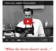 "Ricky Ricardo is the quintessential ESL Learner.!! This is awesome & a ""must-watch"" for all ESL / Reading Teachers! .....Follow for Free 'too-neat-not-to-keep' teaching tools other fun stuff :)"