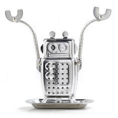 Robot Tea Infuser silver, kikkerland, kitchen utensils
