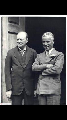 Charlie Chaplin and Winston Churchill.