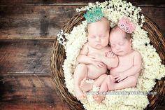 Baby Newborn Twins Basket Crown Photography Photog Canadian Shutterbug