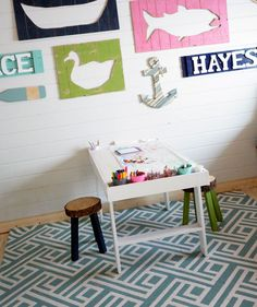 Build an Art Play Table for your kids using this free and simple project tutorial via Ana White.