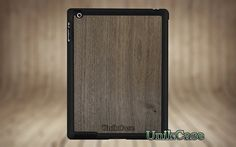iPad 2 3 or 4 case stand book wood Real walnut wood par UnikCase1